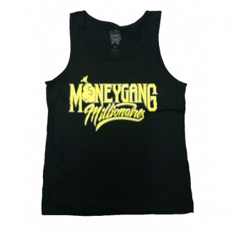 Money Gang Millionaire Tank Top Black with Yellow