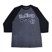 Blood Money AK-47 Baseball T-Shirt Black Grey