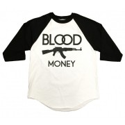 By Any Means BME Baseball T-Shirt Black and White