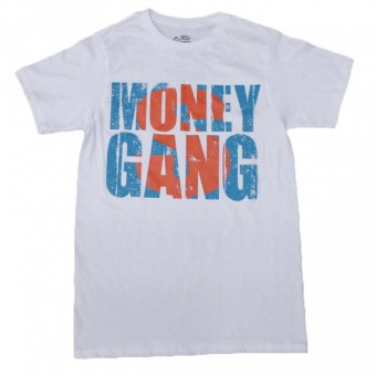 Big Money T-Shirt White with Turquoise and Orange
