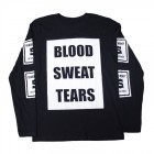 Blood Sweat Tears Long Sleeve T-Shirt Black