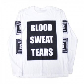 Blood Sweat Tears Long Sleeve T-Shirt White