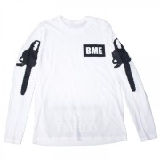 Chainsaw Long Sleeve T-Shirt White