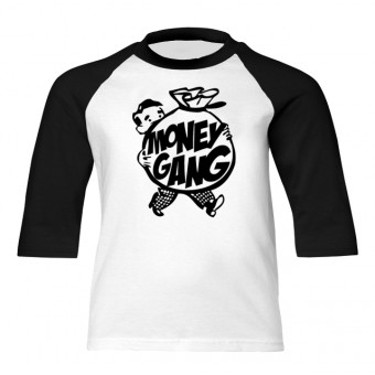 Money Gang Fat Boy Black Print Baseball T-Shirt