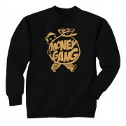 Money Gang Fat Boy Crewneck Gold Print