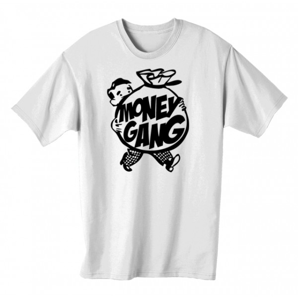 Money Gang Fat Boy T Shirt Black Print