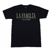La Familia T-Shirt Black and Foil Gold