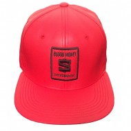 Limited Faux Leather Blood Money Logo Hat Red