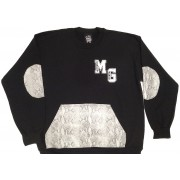 Money Gang Crewneck Snake Print Black