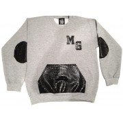 Money Gang Crewneck Gator Print Grey