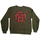 Military Green MG Gel Print Crewneck
