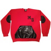 Money Gang Crewneck Gator Print Red