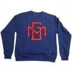 Royal Blue Heather Red MG Gel Print Crewneck