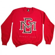 Red MG Gel Print Crewneck