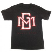 MG Logo White and Red Crocodile Gel Print T-Shirt Charcoal Grey