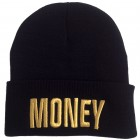 Money Beanie Black Gold