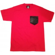 Money Gang Shirt Gator Skin Print Red