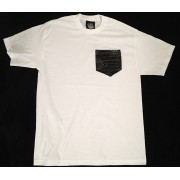 Money Gang Shirt Gator Skin Print White