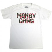 Money Gang Floral Print T-Shirt White