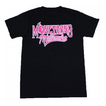 Money Gang Millionaire T-Shirt Black with Pink and White