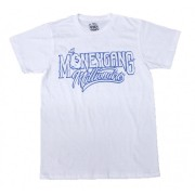 Money Gang Millionaire T-Shirt White with Metallic Blue