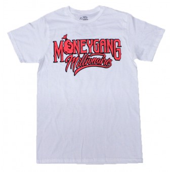 Money Gang Millionaire T-Shirt White with Infrared and Black