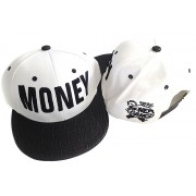Money Snapback Hat White