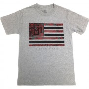 Money Gang Flag T-Shirt Grey