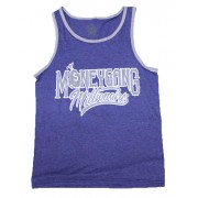 Money Gang Millionaire Tank Top Heather Blue with Grey