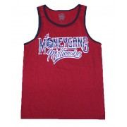 Money Gang Millionaire Tank Top Red with Navy