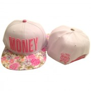 Pink and White Floral Money Hat