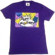 Retro Get Money T-Shirt Purple