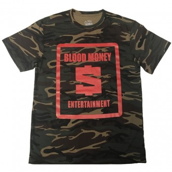 Blood Money Logo T-shirt Camouflage