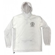 White Pullover Windbreaker Winners Cycle