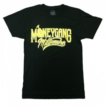 Money Gang Millionaire T-Shirt Black with Yellow