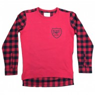 BME Flannel Pullover Red Black