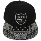 Bandana Blood Money Crest SnapBack Black on Black