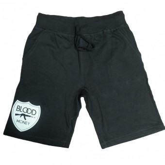 Blood Money Logo Jogger Shorts Black