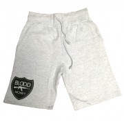 Blood Money Logo Jogger Shorts Heather Grey