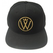 Winners Circle Logo Hat Black with Metallic Gold