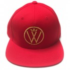 Winners Circle Logo Hat Red with Metallic Gold
