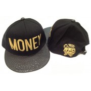 Money Snapback Hat Gator Black
