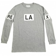 reLAx Long Sleeve Gray T-Shirt